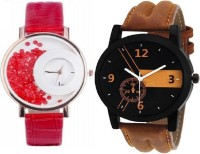 MAPA STYLE Attractive Stylish Red Mxre & Lorem Genium Brown Leather Strap 2 Combo Girls & Boys Analog Watch MPSTYLE 088 Hybrid Watch  - For Men & Women