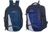 Good Friends New Festive Season Strong Backpack Pack Of 2 Waterproof School Bag(Blue, 35 L)