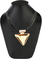 AMNOR Women Fashion Charm Elegant Triangle Crystal Glass Rope Chain Pendant Alloy, Acrylic Pendant