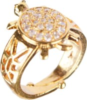 Anand India Meru Ring Copper Diamond Yellow Gold Plated Ring