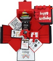 DecuT 3 Layered Romantic Handmade Explosion Box For Anniversary Love Explosion Box Gift For Birthday Explosion Box Kit(Multicolor)