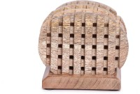 The Royal Collection Oval Wood Coaster Set(Pack of 4)