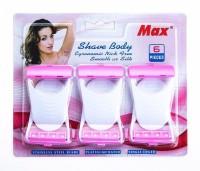JM SELLER Max Disposable Body Bikini Shaving Razor- Pack Of 6 Blades - Pink Disposable Razor(Pack of 1) - Price 239 81 % Off
