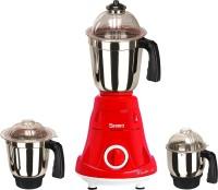 Sunmeet MG18 TA 185 ( 1 Large Jar, 1 Medium Jar and 1 Chuntey Jar) 1000 Mixer Grinder(Red, 3 Jars)