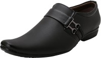 Gubatti Men's Formal Shoes Slip On For Men(Black)