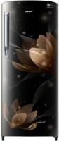 Samsung 192 L Direct Cool Single Door 4 Star Refrigerator(Blooming Saffron Black, RR20N172YB8-HL/RR20N272YB8-NL)