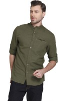 Jack & Jones Men's Solid Casual Green Shirt