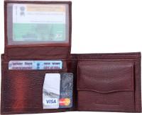 skkfashion Men Brown Genuine Leather Wallet(5 Card Slots)