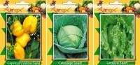 Airex Capsicum Yellow, Lettuce, Cabbage Vegetables Seed (Pack Of 20 Seed Capsicum Yellow + 20 Lettuce + 20 Cabbage Seed) Seed(20 per packet)