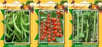 Airex Semphali, Cherry Tomato, Snake Gourd Vegetables Seed (Pack Of 15 Seed Semphali + 15 Cherry Tomato + 15 Snake Gourd Seed) Seed(15 per packet)