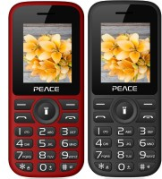 Peace P4 Combo of Two Mobiles(Black $$ Red & Red $$ Black)