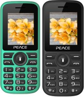 Peace P4 Combo of Two Mobiles(Green $$ Black & Black $$ Red)