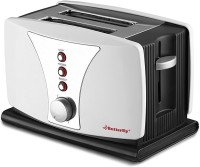 Butterfly BSTP17-18A 800 W Pop Up Toaster(Black)