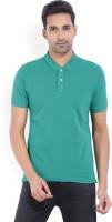 Arrow Sport Solid Men's Polo Neck Green T-Shirt