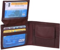 skkfashion Men Brown Genuine Leather Wallet(4 Card Slots)