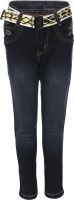 AJ Dezines Slim Boys Black Jeans