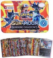 Civil Sun & Moon Burning Shadows Series Trading Card Game With Metal Box For Kids (Multicolor)(Multicolor)