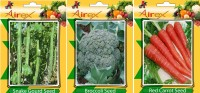 Airex Snake Gourd, Broccoli, Red Carrot Vegetables Seed (Pack Of 15 Seed Snake Gourd + 15 Broccoli + 15 Red Carrot Seed) Seed(15 per packet)