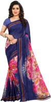 Anand Floral Print Fashion Georgette Saree(Multicolor)