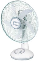 """care 4 14"""" dp 7611 PORTABLE RECHARGEABLE TABLE FAN 1200 mm 5 Blade Table Fan(WHITE, Pack of 1)"""