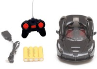 J H TRADERS Rechargeable Remote Control Door Opening/Closing Ferrari Toy Car for kids(Black)