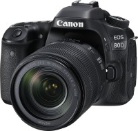Canon EOS 80D DSLR Camera Body with Single Lens: EF-S 18-135 IS USM (16 GB SD Card)(Black)