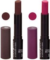 Bonjour Paris Color Cap Lipstick 02 04(Multicolor, 7 g)