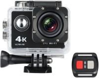 IBS wifi hd action camera Ultra HD Action Camera 4K 30fps Video Photo 170 Degree Fish-Eye Lens Built-in WIFI for Android and IOS Devices with Car Mode Slow Motion and Time Lapse with remote control Sports and Action Camera(Black, 12 MP)