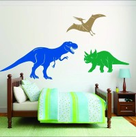 Paper Plane Design Medium Wall Stickers(Pack of 3)