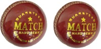Tima Genuine Leather Cricket Ball (2 Cups), Standard Set of 2 (Red) Cricket Leather Ball - Size: 5(Pack of 2, Red)
