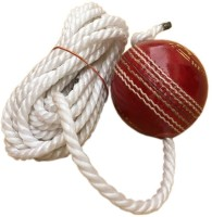 TIMA 777 Hanging ball (RT56) Leather Hanging Ball for Cricket (Pack of 1) Cricket Training Ball - Size: 5(Pack of 1, Red)