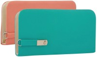 SCORIA Casual Pink, Green  Clutch