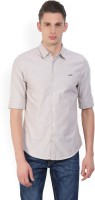 Peter England University Men's Solid Casual Spread Shirt