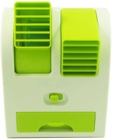 View OLECTRA Mini Cooler Personal Air Cooler(White Green, 0 Litres) Price Online(OLECTRA)
