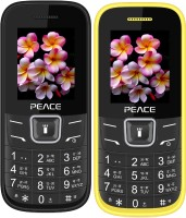 Peace FM1 Combo of Two Mobiles(Black $$ Blue & Yellow $$ Black)
