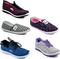 Asian Women Casual & Running Shoes Combo Pack of 5 Walking Shoes For Women(Multicolor)