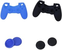 Microware Sleeve for Playstation 4 PS4 Controller(black & blue, Flexible Case)
