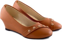 PIPILIKA Ballerinas 1718 Brown Trendy High Heel Belly Shoes for Women Bellies For Women(Brown)