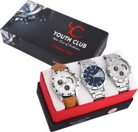 Youth Club COMBO-27SCDD NEW STYLISH CASUAL COMBO FOR MAN WITH DAY DATE Watch - For Boys