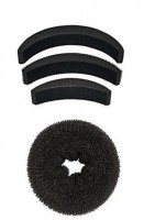 Param Combo Of Donut And Puff Hair Accessory Set (Black) Hair Accessory Set(Black) - Price 146 51 % Off