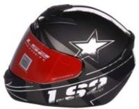 LS2 Star Black Grey Motorbike Helmet(Blacl, Grey)