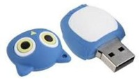 Microware Owl Shape 8gb Pendrive 8 GB Pen Drive(Blue)