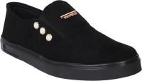 Do Bhai Sneaker-France-Black Slip On Sneakers For Women(Black)