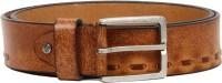 Flying Machine Men Casual Tan Genuine Leather Belt