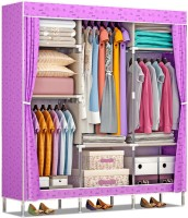 dcaf38f3d58 FurnCentral 2 Door PP (Polypropylene) Collapsible Wardrobe(Finish Color -  Purple Lemon) Offer
