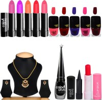 Adbeni Professional Makeup Combo With Gold Plated Pendant(Set of 14) - Price 665 77 % Off