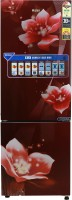 Haier 256 L Frost Free Double Door Bottom Mount 3 Star Convertible Refrigerator(Red Magnolia/Red Flower, HEB-25TRF)