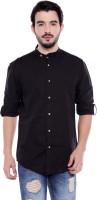 Dennis Lingo Men Solid Casual Black Shirt