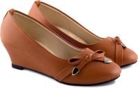 PIPILIKA Ballerinas 1719 Brown Trendy High Heel Belly Shoes for Women Bellies For Women(Brown)