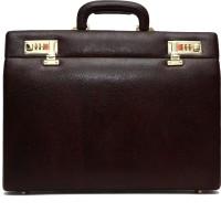 Hammonds Flycatcher 100 % Genuine Leather Briefcase Medium Briefcase - For Men & Women(Brown)